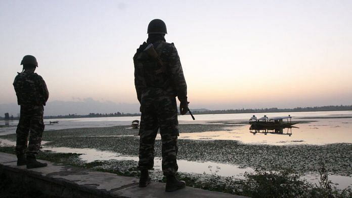 A file photo of Indian security forces in Jammu and Kashmir. Photo: Praveen Jain/ThePrint