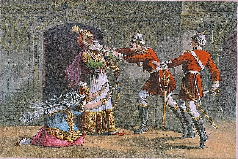 The capture of the 'King of Delhi' by Henry Hodson   Wikimedia Commons