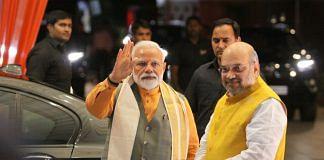 File photo of Narendra Modi and Amit Shah | Praveen Jain | ThePrint