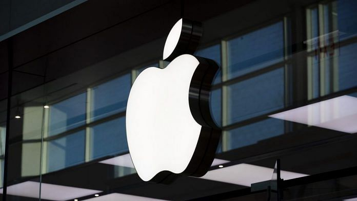 An Apple inc. logo is displayed at their store at Yorkdale mall in Toronto   Photographer: Brent Lewin   Bloomberg