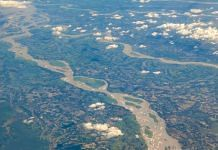 Aerial view of the Brahmaputra in Assam | Pexel