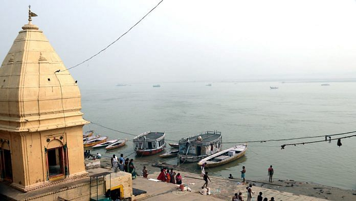 The river Ganga in Varanasi