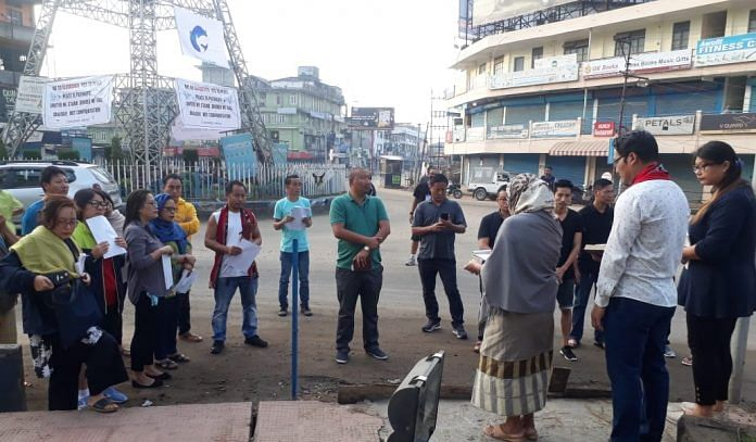 A group called Concerned Nagas held a morning prayer programme for peace and an end to violence in Dimapur at the City Tower, regarded the town's square on October 31 , 2019. This was the last day of the formal Indo Naga peace talks in New Delhi