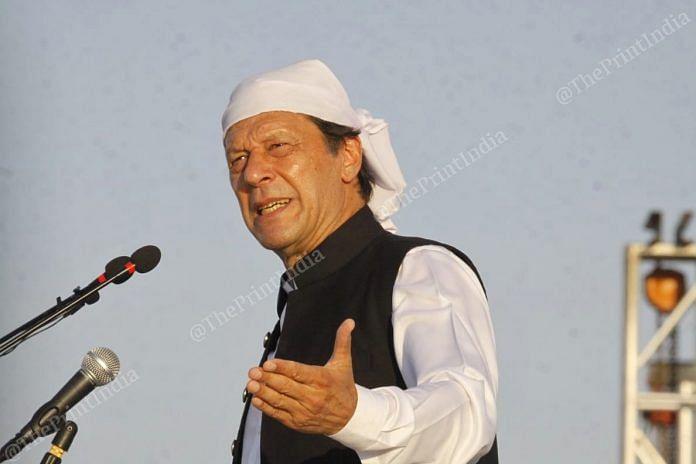 File photo   Pakistan PM Imran Khan speaking during the inauguration of Kartarpur corridor   Praveen Jain   ThePrint