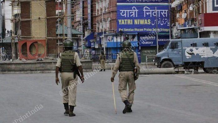 Security personnel in Kashmir | Praveen Jain | ThePrint | File photo
