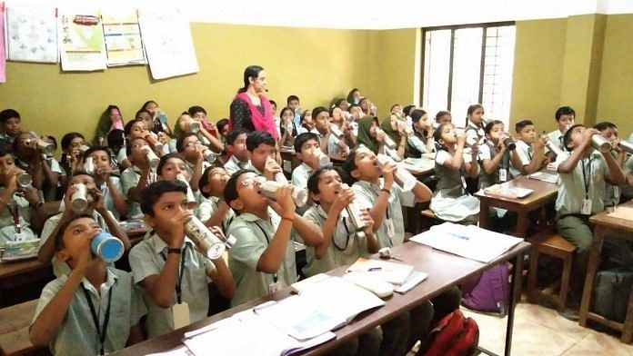 Students at Kerala's St Joseph's Upper Primary School   By special arrangement