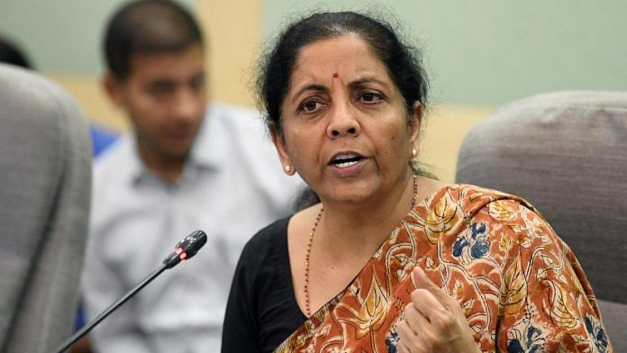File photo of Nirmala Sitharaman in New Delhi on 24 October