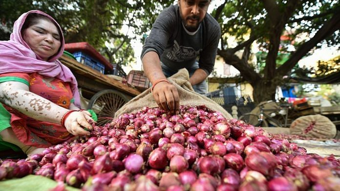 Stock limits imposed on onions under the Essential Commodities Act led to skyrocketing prices late last year | File photo: PTI