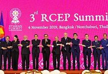PM Narendra Modi in a group photo with other world leaders at the 3rd RCEP Summit in Bangkok, Thailand, Monday   PTI
