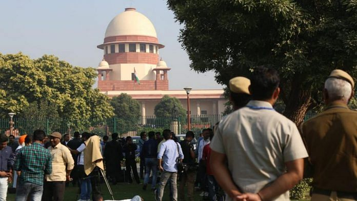 People outside Supreme Court | File photo | Manisha Mondal | ThePrint
