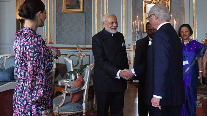 PM Modi meeting Swedish King | Twitter