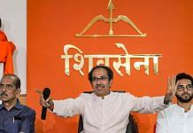 File photo of Maharashtra Chief Minister and Shiv Sena president Uddhav Thackeray with his son and Yuva Sena chief Aaditya Thackeray (right) | Photo: PTI