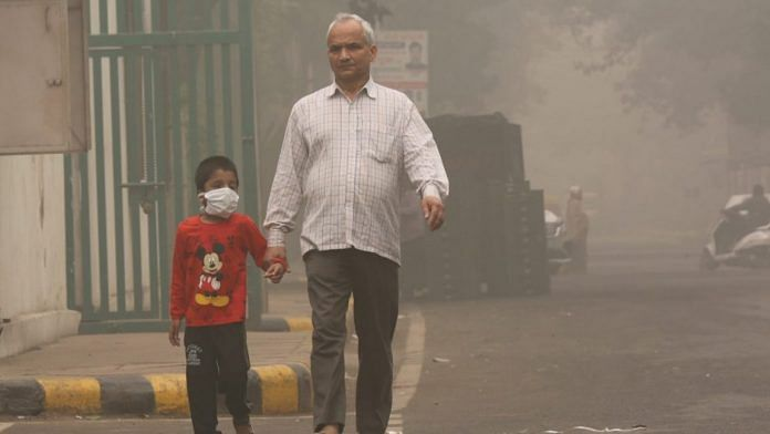 A file photo of pollution clouding Delhi's air | Suraj Singh Bisht | ThePrint