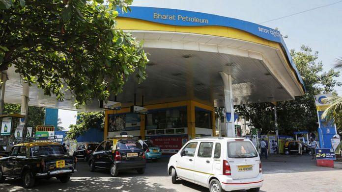 File photo of a Bharat Petroleum Corporation gas station in Mumbai