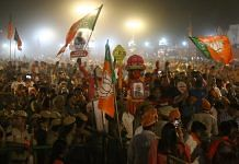 BJP supporters at a rally | Photo: Suraj Singh Bisht | ThePrint