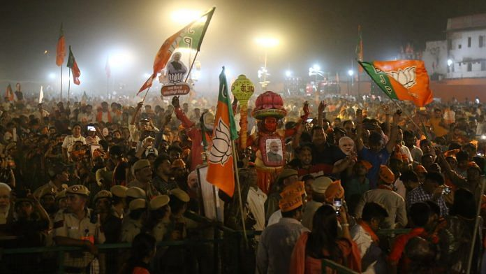 BJP supporters at a rally   Photo: Suraj Singh Bisht   ThePrint