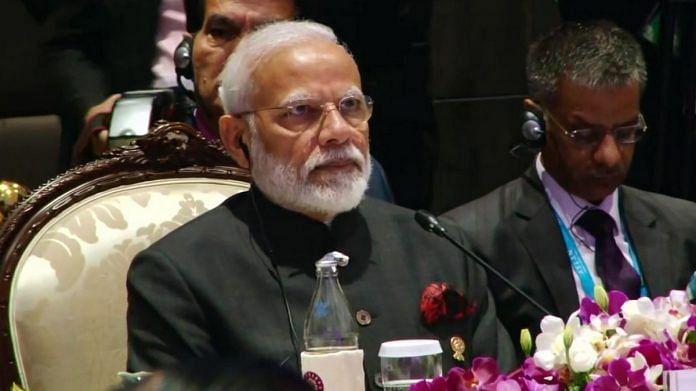 A file photo of Prime Minister Narendra Modi during the ASEAN summit in Bangkok. | Photo: ANI
