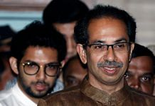 File photo of Shiv Sena chief Uddhav Thackeray and his son Aaditya Thackeray | Photo: ANI