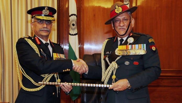 Outgoing Army Chief Bipin Rawat hands over the baton to Gen Manoj Mukund Naravane, who took over as the 28th Chief of Army Staff | Indian Army