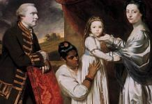 Joshua Reynolds | George Clive and his Family with an Indian worker | Wikimedia Commons