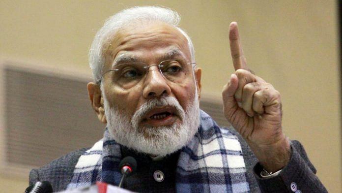 Prime Minister Narendra Modi at the Assocham event in New Delhi on 20 December | Praveen Jain | ThePrint
