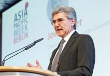 Siemens AG's CEO Joe Kaeser speaking at an event