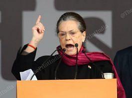 File image of Congress interim president Sonia Gandhi | Photo: Suraj Singh Bisht | ThePrint