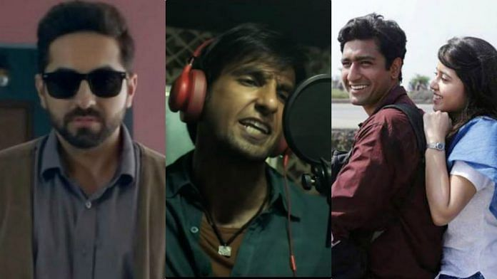 Stills from Andhadhun, Gully Boy, and Masaan | ThePrint