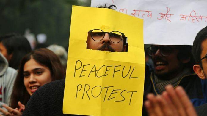 Protest against Citizenship Amendment Act in New Delhi | Suraj Singh Bisht | ThePrint