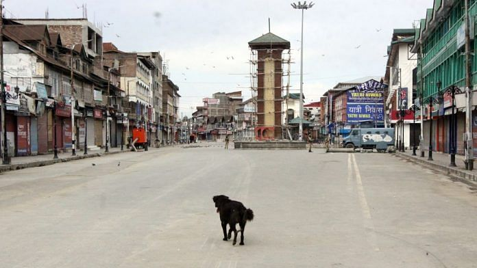Deserted road in Srinagar | Praveen Jain | ThePrint