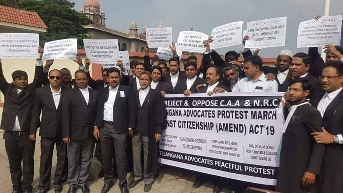 Lawyers protesting against CAA