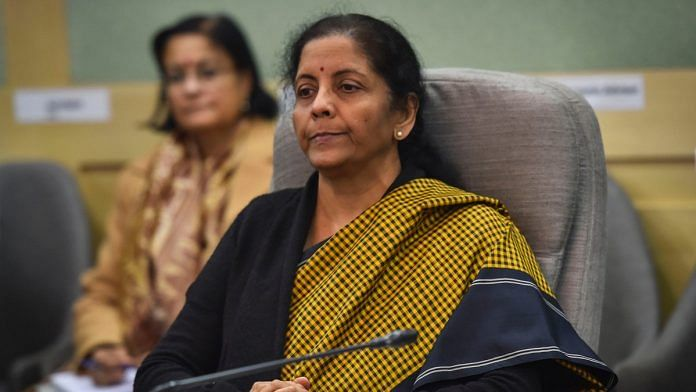 Union Finance Minister Nirmala Sitharaman chairs a pre-budget meeting with industrialists, at Finance Ministry in New Delhi, Thursday, Dec. 19, 2019. | PTI