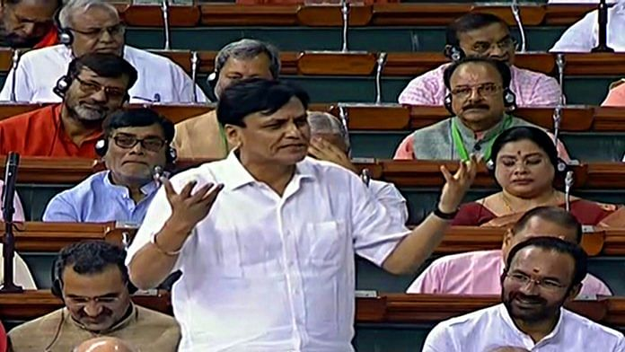 Minister of State for Home Affairs Nityanand Rai speaks in Lok Sabha during the Budget Session in New Delhi. | ANI