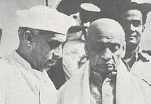 Jawaharlal Nehru with Sardar Vallabhbhai Patel