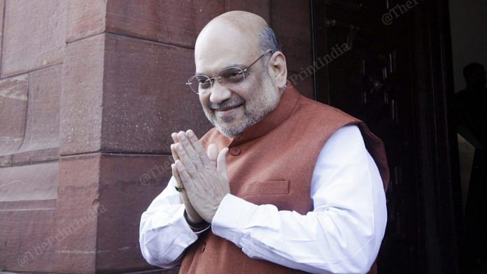 Union Minister Amit Shah at Parliament | Photo: Praveen Jain | ThePirnt