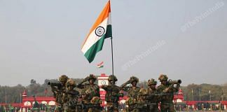 Army personnel put on a performance during the parade | Photo: Suraj Singh Bisht | ThePrint