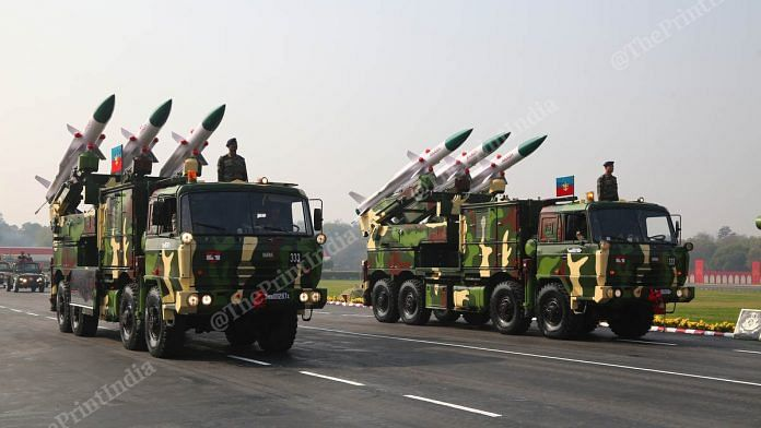 The Army shows off its hardware during the parade | Photo: Suraj Singh Bisht | ThePrint