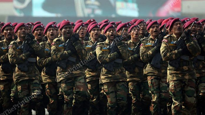 Army personnel during a parade (representational image) | Photo: Suraj Singh Bisht | ThePrint