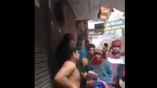 Man nude women clothed in public Man Stripped Naked Beaten For Teasing Minor Girls In Viral Video Is Not Muslim