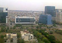Gurugram skyline