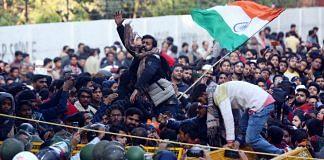 Protesters outside Jamia Millia Islamia, New Delhi   Suraj Singh Bisht   ThePrint