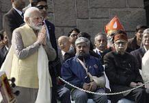 PM Narendra Modi pays tribute to Mahatma Gandhi on his death anniversary | Photo: Praveen Jain | ThePrint