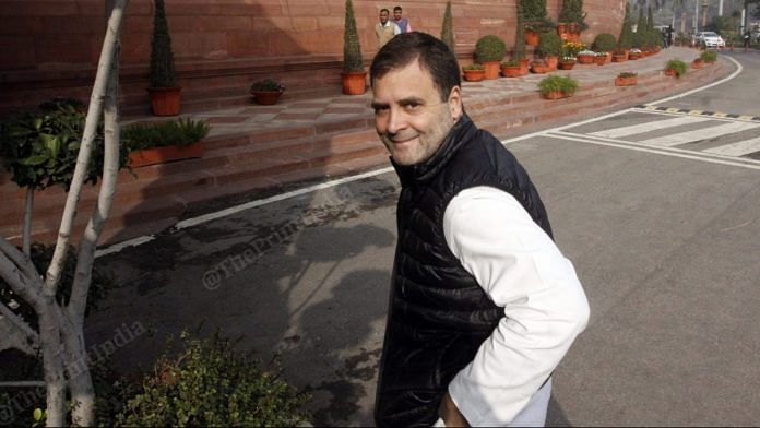 Congress MP Rahul Gandhi at Parliament | Photo: Praveen Jain | ThePrint