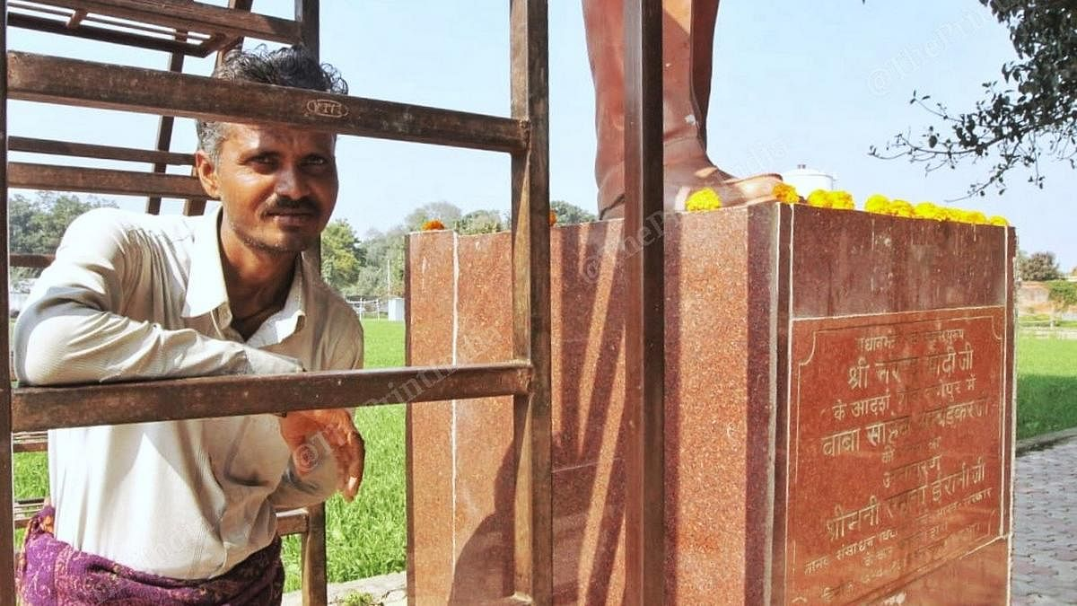 Santosh Kumar in Nagepur village, Varanasi district, Uttar Pradesh