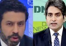 Times Now's Rahul Shivshankar (L) and Zee News' Sudhir Chaudhary (R)