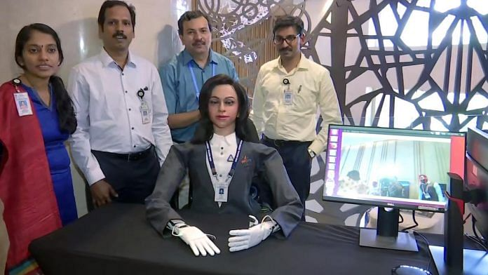 ISRO's half humanoid 'Vyommitra' which is to be placed in the first unmanned mission under Gaganyaan