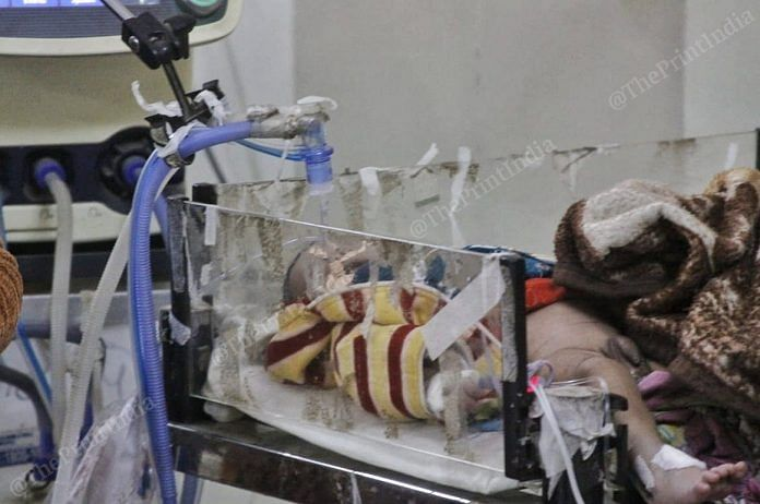 A child admitted at Kota's JK Lon Mother and Child Hospital