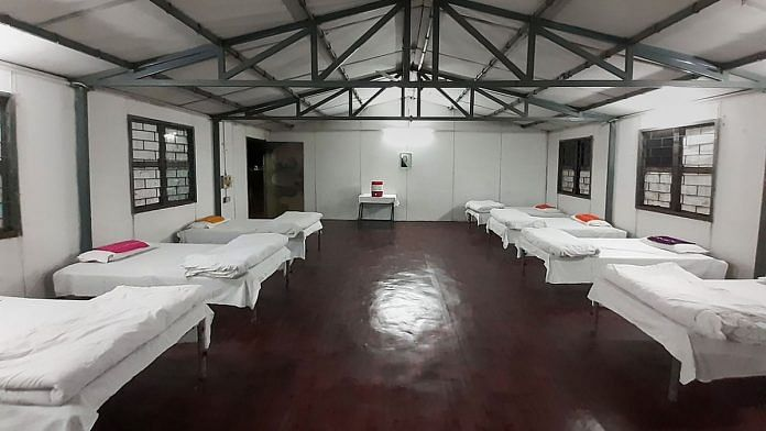 A view of the quarantine facility which has been setup by the Army for the 300 students, who are being brought back from coronavirus-hit Wuhan in China, at Manesar, Haryana, Delhi. | PTI