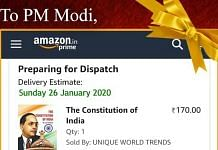 Congress sent a copy of the Indian Constitution to Prime Minister Narendra Modi