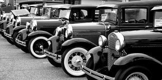Representational image of vintage cars